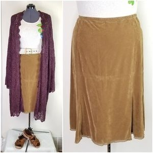 J. Jill Caramel Brown Corduroy Skirt